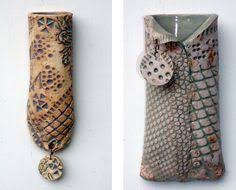 ceramic wall pockets by lynn baxley like the gloss glaze inside contrasting with on clay wall art pottery with 2 clay wall pocket with pasta designs tutorial youtube arted