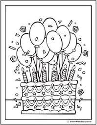 Carteles Y Tarjetas De Feliz Cumpleaños Para Colorear Manish