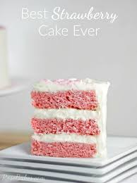 Best Strawberry Cake Ever Rose Bakes