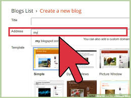 How To Create A Blog How To Set Up A Google Blog 7 Steps With Pictures Wikihow