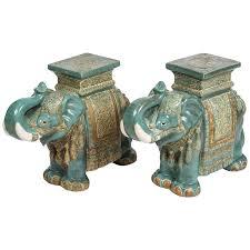 chinese ceramic elephant garden stools