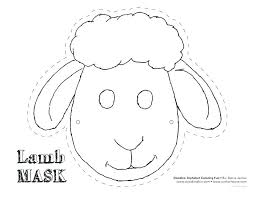 Blank Face Templates Adorable Face Template Printable Sheep Mask Con Google Clock Blank For Kids