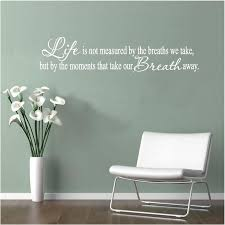 vinyl wall decal art saying decor life is not measured by the breaths on large vinyl wall decal quotes with 93 best business vinyl wall decal quotes images on pinterest wall