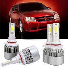 2010 Dodge Avenger Fog Light Bulb Amazon Com 4pcs 9006 9005 Car Led High Low Beam Headlight