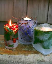 Fire And Ice Decorations Design Frozen Garden Candles Blend Fire And Ice For A Stunning Display 82
