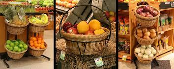 wood produce baskets