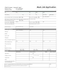 Application Forms Sample Application Form Sample Template Kensee Co