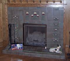 image of antique fireplace tiles