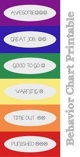 Color Behavior Chart For Kids Behavior Chart Printables Helpfullyblog Behavior_chart