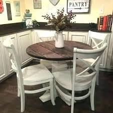 impressive farmhouse round dining table tables old pine in pedestal ordinary small breakfast room and chairs