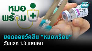 """ยอดจองวัคซีนโควิด-19 ผ่าน """"หมอพร้อม"""" ครึ่งวันแรก 1.3 แสนคน : PPTVHD36"""