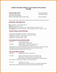 Resume Education Examples Resume Educational Background format Awesome Example Educational 69