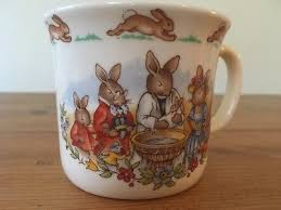 bunnykins christening mug cup by royal doulton baby gift 1936