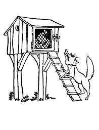 Small Picture A Backyard Bungalow Chicken Coop Colouring Page Colouring Tube