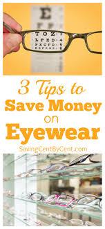 3 tips to save money on eyewear