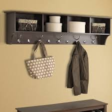 Crate And Barrel Wall Mounted Coat Rack Wall Mounted Coat Racks Hooks Youll Love Wayfair For Contemporary 37