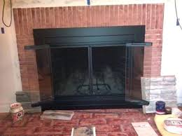 pleasant hearth doors living rooms pleasant hearth ascot small glass with fireplace doors website designs