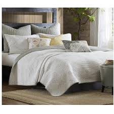 Pacifica Taupe and Ivory Quilt Bedding Set – Sky Iris &  Adamdwight.com