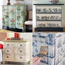 diy decoupage furniture. Diy Decoupage Dresser Painted Bird Mod Podge Furniture T