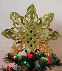 Paper Christmas Tree Ornaments Woven Paper Tree Topper Happiness Is Homemade