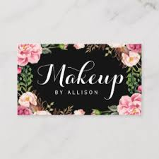 makeup artist modern script y fl wrapping business card