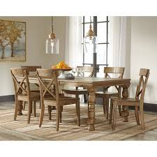 Pine Kitchen Table And Chairs 7 Piece Solid Pine Dining Table Set By Signature Design By Ashley