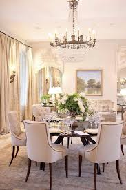 reclaimed wood trestle dining table with beige tufted nailhead throughout luxurious linen dining room chairs regarding round
