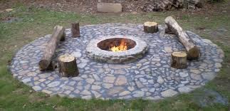 backyard in ground fire pit