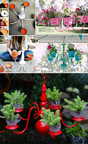 have an old chandelier don t throw it away repurpose it to make a beautiful planter and grow trailing plants in it see a tutorial on diy showoff