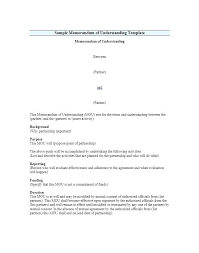 Business Partnership Agreement Template Free Templates General Mou ...