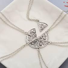 product information home women women s jewelry women s necklaces 6pcs pizza pendant necklaces friendship best friends forever necklace