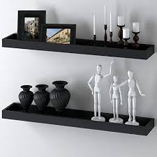 Wedge Floating Shelves Inspiration Modern Home Black Floating Tray Wall Wedge Shelf 32 X 32 Inch