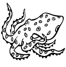 angry octopus coloring page