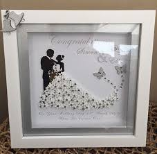 personalised deep box frame wedding anniversary mr mrs gift print diamantes more