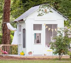 having just demolished my old garden shed to make way for a veggie garden this project that turns an old shed or garden hut into a children s playhouse