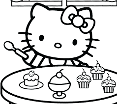 Free Birthday Coloring Pages To Print Hello Kitty Coloring Pages