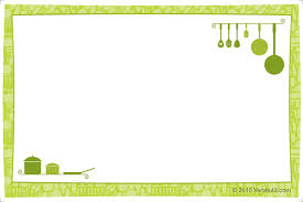 Card Outline Free Printable Recipe Card Template For Word