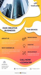 business services template download free orange business services flyer design templates