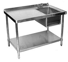 Stainless Steel Table With Backsplash Extraordinary Table With Backsplash Stainless Steel Work Tables
