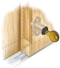 sliding closet door locks. Sliding-Door Push Lock - Woodworking Sliding Closet Door Locks F