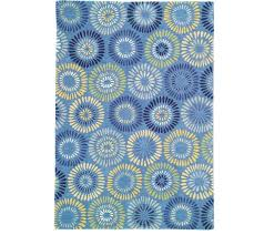 dream flower blue rug