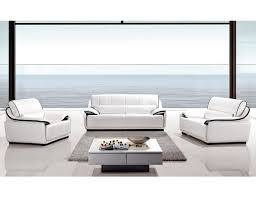 white leather sofa sets. Contemporary White And White Leather Sofa Sets