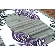 purple and black ruger gray area rug rugs awesome ideas intended for