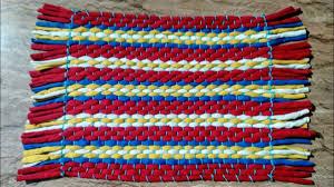 how to make rug carpet table mat door mat using old t shirts