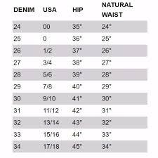 Vince Pants Size Chart 19 Efficient Draggin Jeans Size Chart