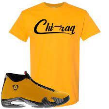 Air Jordan 14 University Gold Reverse Ferari Sneaker Hook Up Chi Raq Cap Swag