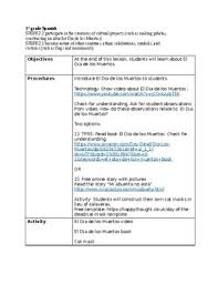Elementry Lesson Plans Day Of The Dead Elementary Spanish Class Lesson Plans 1st 5th Tpt