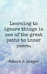 Inner Peace Quotes Custom Learning To Ignore Things Is One Of The Great Paths To Inner Peace