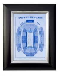 Seating Chart Bills Stadium Print Of Vintage Ralph Wilson Stadium Seating Chart Seating Chart On Photo Paper Matte Paper Or Canvas