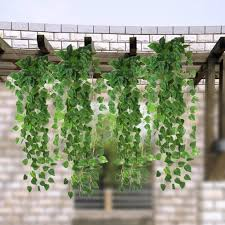 Aliexpress.com : Buy Green Artificial Fake Hanging Vine Plant Leaves  Garland Home Garden Wall Decoration Supplies 90x 4 cm from Reliable leaf  garland ...